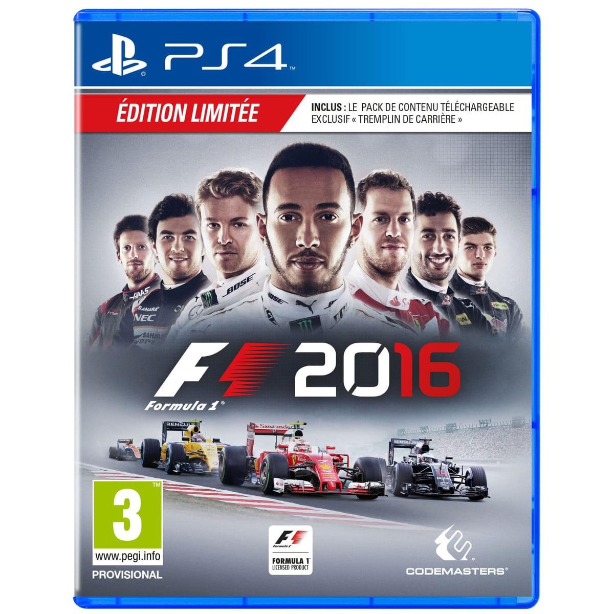 Sélection de jeu en promotion sur Xbox One / PS4 - Ex: F1 2016 Édition Day One sur PS4