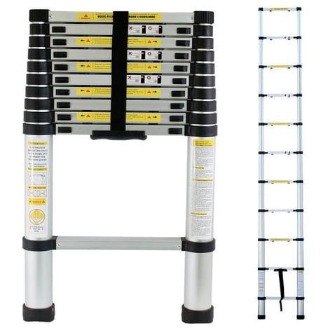 chelle t lescopique carrera compact en aluminium 2 6 m. Black Bedroom Furniture Sets. Home Design Ideas