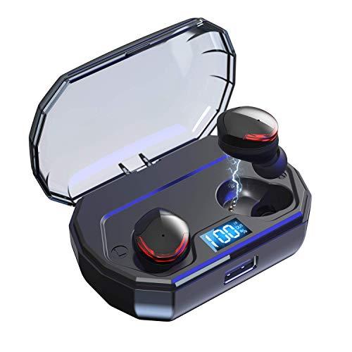 Écouteurs intra-auriculaire sans-fil Bravoly - Bluetooth 5.0, contrôle tactile, étanche IPX5 (vendeur tiers)