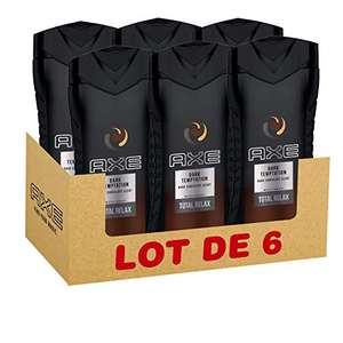 Lot de 6 gels-douche Axe Dark Temptation - 6x250 ml