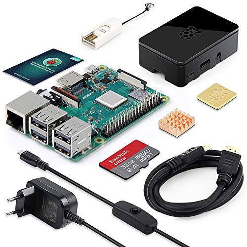 Kit Starter Abox Raspberry Pi 3 Modèle B+ Plus - MicroSD SanDisk 32 Go, Alimentation 5V 3A + Boîtier Noir  (Vendeur tiers)