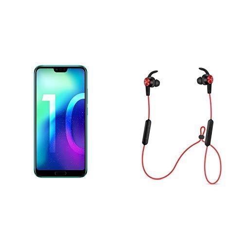 "Pack smartphone 5.84"" Honor 10 (full HD+, Kirin 970, 4 Go de RAM, 128 Go, vert) + écouteurs intra-auriculaires Honor AM61"