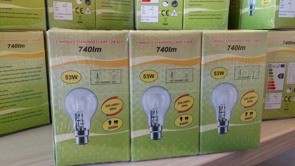 Lot de 6 Ampoules 53W B22 gratuit