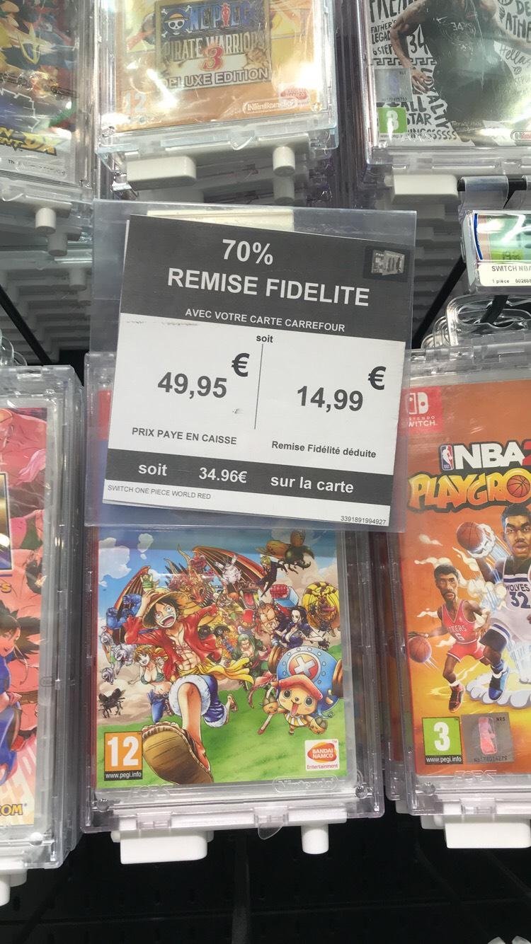 Sélection de jeux sur Switch en promotion - Ex : One Piece: Unlimited World Red Deluxe (via 34.96€ en fidélité) - Tourville-la-Rivière (76)