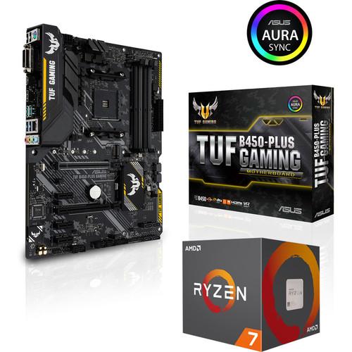 Processeur AMD Ryzen 7 2700 (3.2 GHz) + Carte mère Asus TUF B450 Plus Gaming + 2 jeux