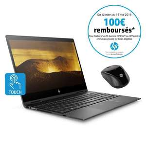 "PC Portable 13.3"" HP Envy x360 13-ag0004nf - Full HD, Ryzen 5 2500U, RAM 8Go, SSD 128Go, Windows 10 + Souris (Via ODR 100€)"