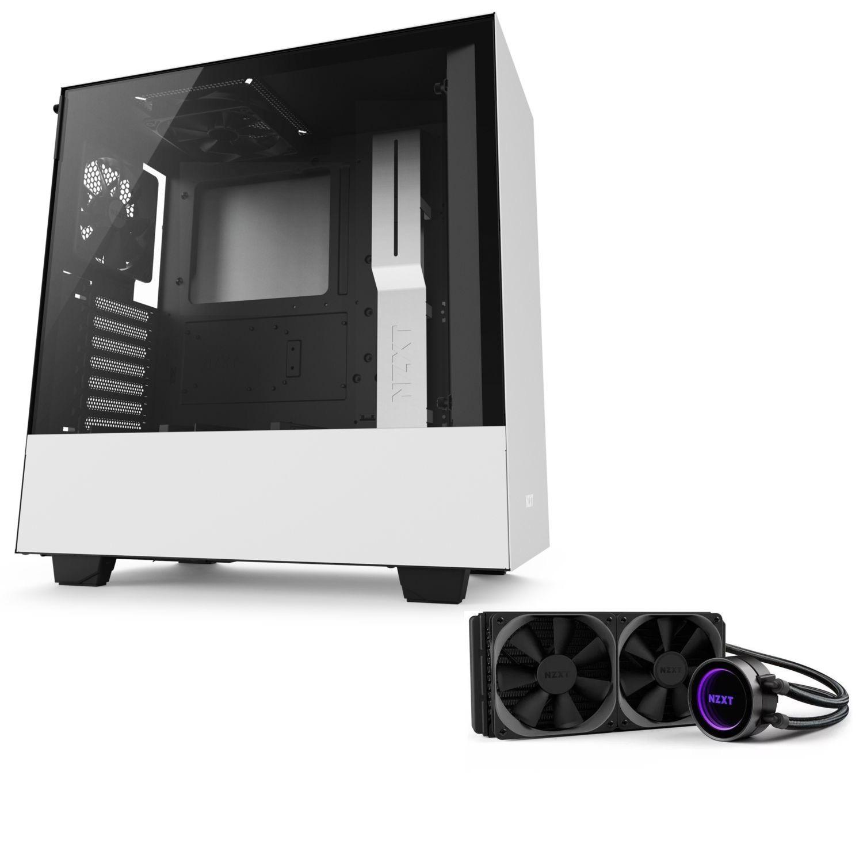Kit de refroidissement NZXT Kraken X62 (280 mm) + Boitier PC H500 (Blanc)
