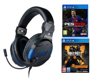 Pack casque audio Bigben Sony Gaming Headset V2 + Call Of Duty: Black Ops IIII - Édition Specialist + Pro Evolution Soccer (PES) 2019