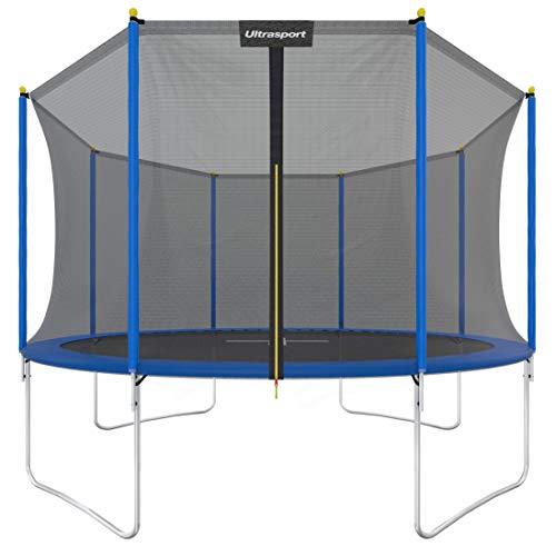 Trampoline de Jardin Ultrasport - Filet de Sécurité, 100 - 150 kg, Ø183 cm