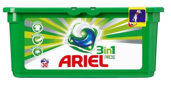 Lessive Ariel dosettes 3 en 1 (50% sur la carte fidélité)