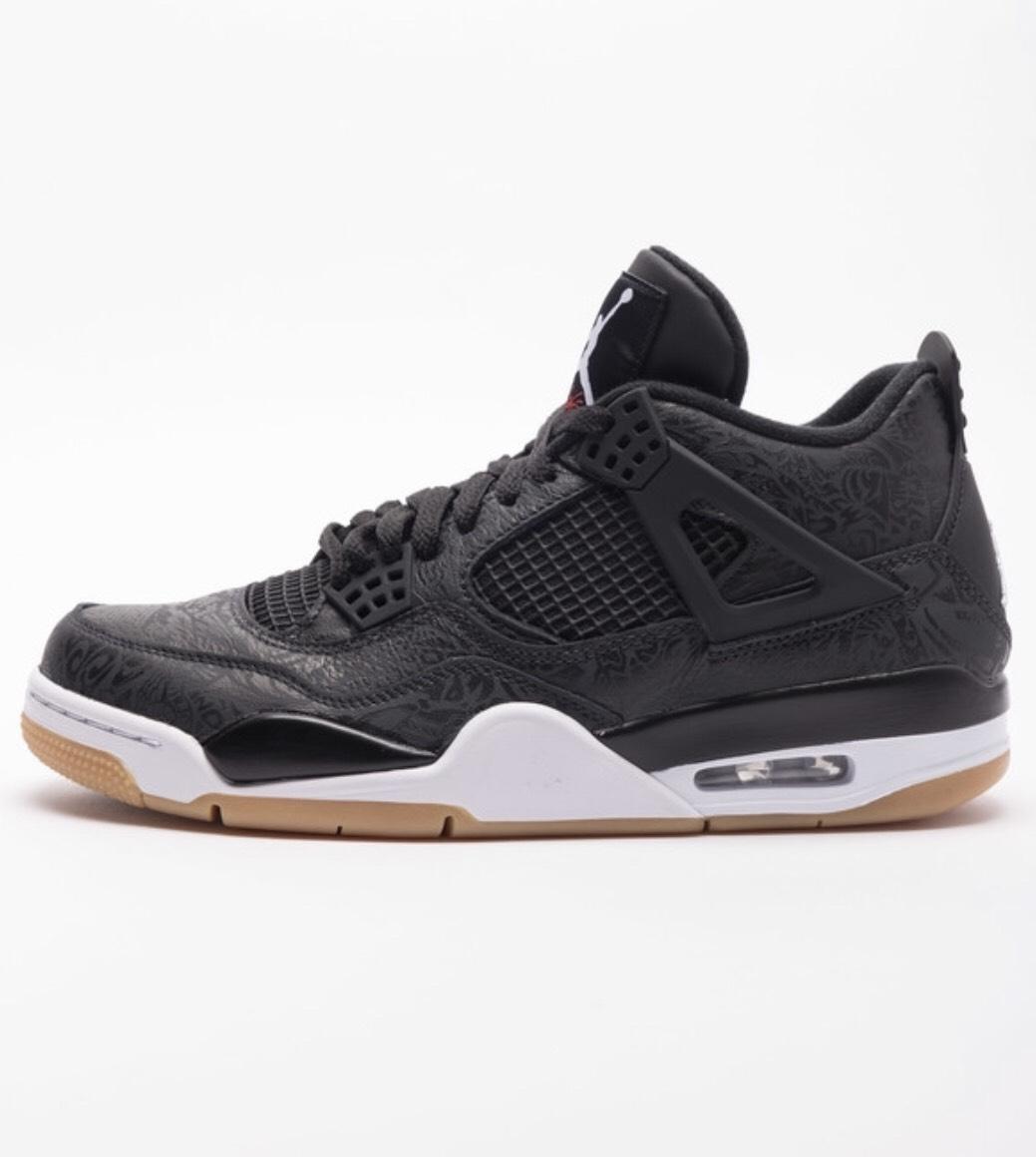 Sélection de Chaussures en promotion - Ex: Paire de chaussures Nike Air Jordan Retro 4 SE - Noir