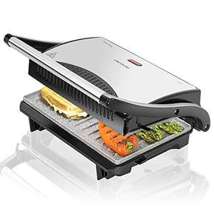 Grill multifonction Cecotec Rock'nGrill - 700 W, 23x14,5 cm
