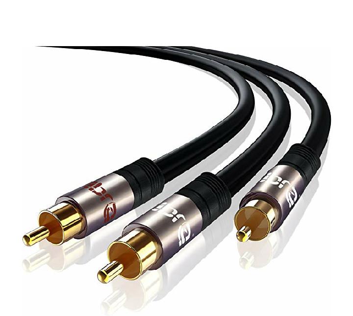 Câble Y Subwoofer Cinch/RCA IBRA (1x fiche vers 2 x fiches) - 7,5 m (Vendeur Tiers)