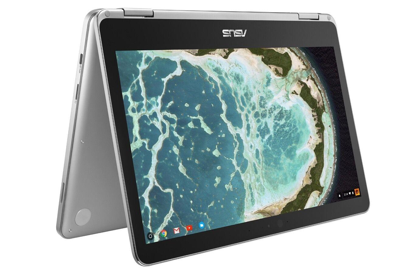 """Portable 12.5"""" Tactile Chromebook Asus Flip C302CA-GU005 - Intel Pentium 4405Y, 4 Go de RAM, 64 Go eMMC, Chrome OS"""