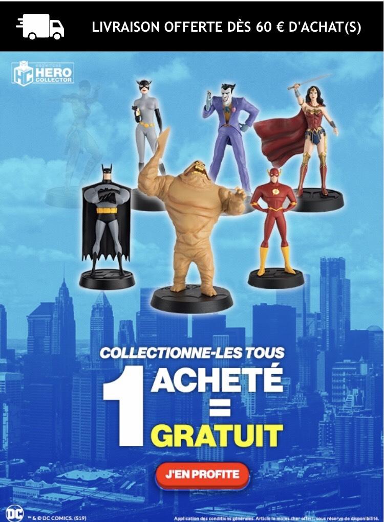 1 Figurine DC Comics achetée = 1 Supplémentaire Offerte