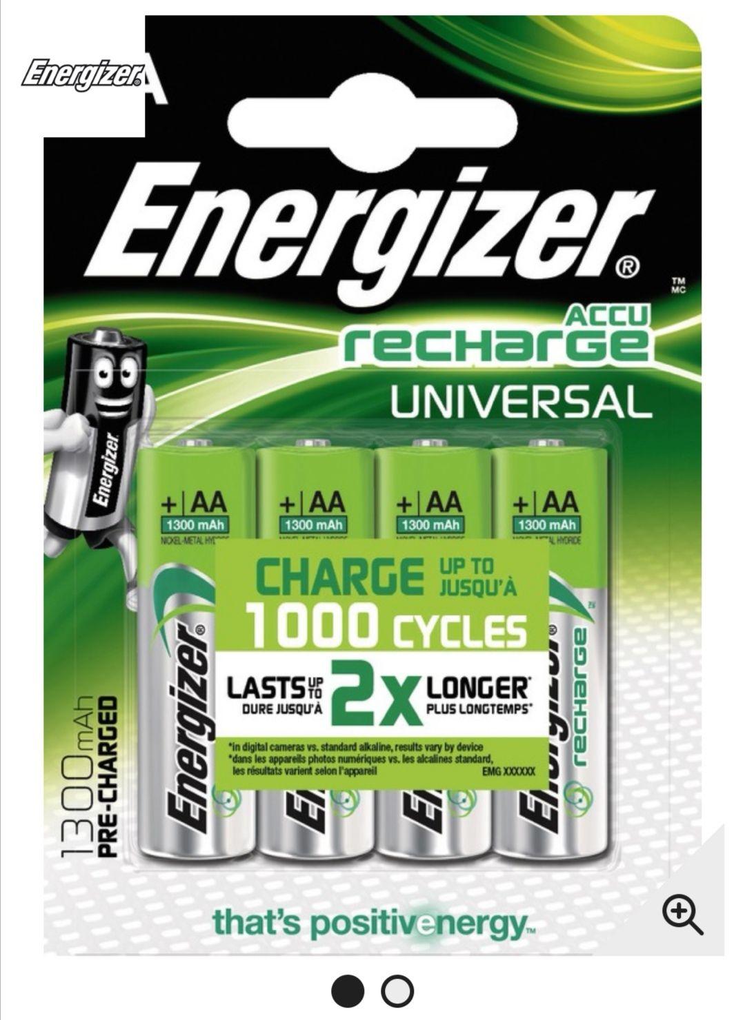 50% de réduction sur les piles spéciales et les piles rechargeable Energizer (Via 50% crédité sur le compte de fidélité)