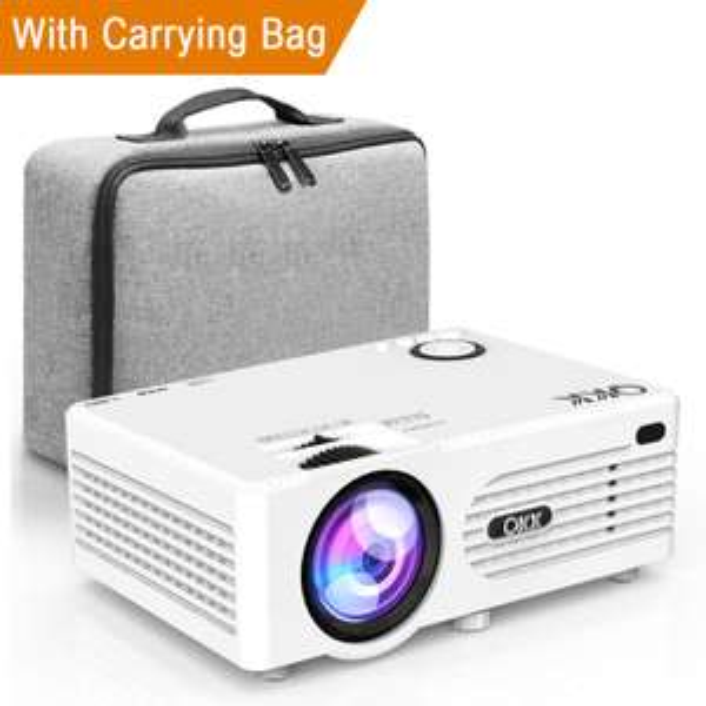 Mini Projecteur QKK 480p - 3600 Lumens, HDMI, VGA, USB, Blanc (Vendeur tiers - Expédié par Amazon)