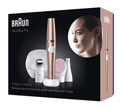 Epilateur pour visage Braun Facespa Pro 921 - 3 accessoires, Bronze