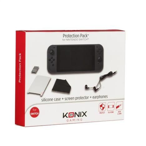 Pack Protection KX Nintendo Switch (coque en silicone + protecteur d'écran + écouteurs)