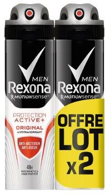 Lot de 2 déodorants Rexona Men MotionSense - 2x100ml (Via 3.49 € sur la carte fidélité)