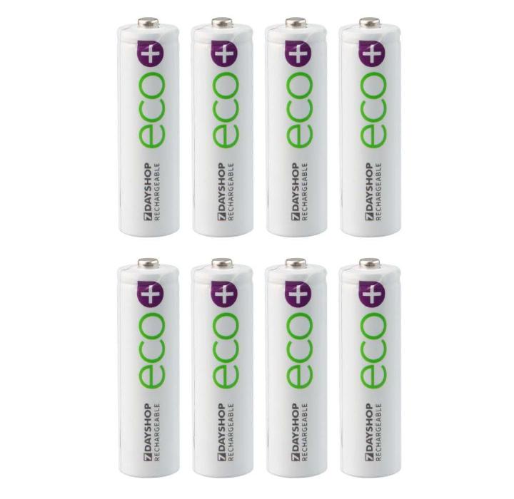 Lot de 8 Piles rechargeables 7dayshop AA HR06 NiMH Eco - 800mAh (ou AAA au même prix)