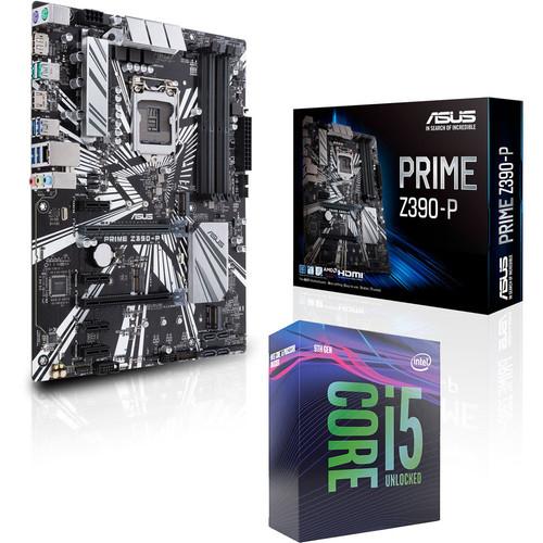 Processeur Intel Core i5 9600K (3.7 GHz) + Carte mère Asus Prime Z390-P (Format ATX)