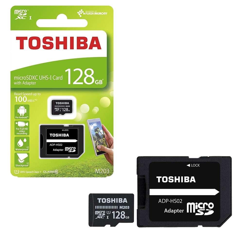 Carte mémoire Micro SDXC Toshiba M203  UHS-I U1 - 128 Go avec Adaptateur