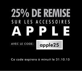 25% de réduction sur les accessoires pour périphériques Apple