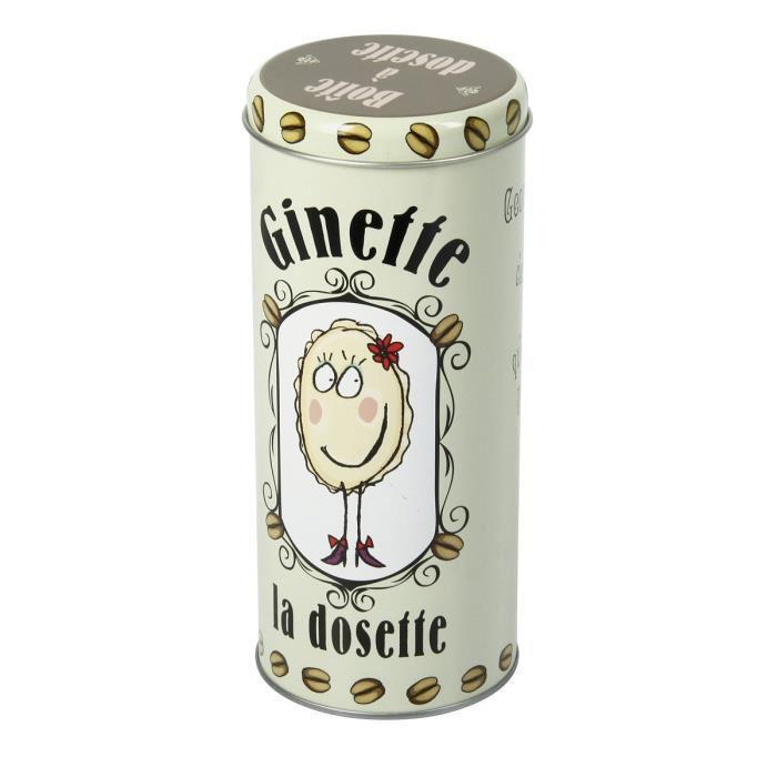 Boîte à café en métal Ginette la dosette - Gris 250gr
