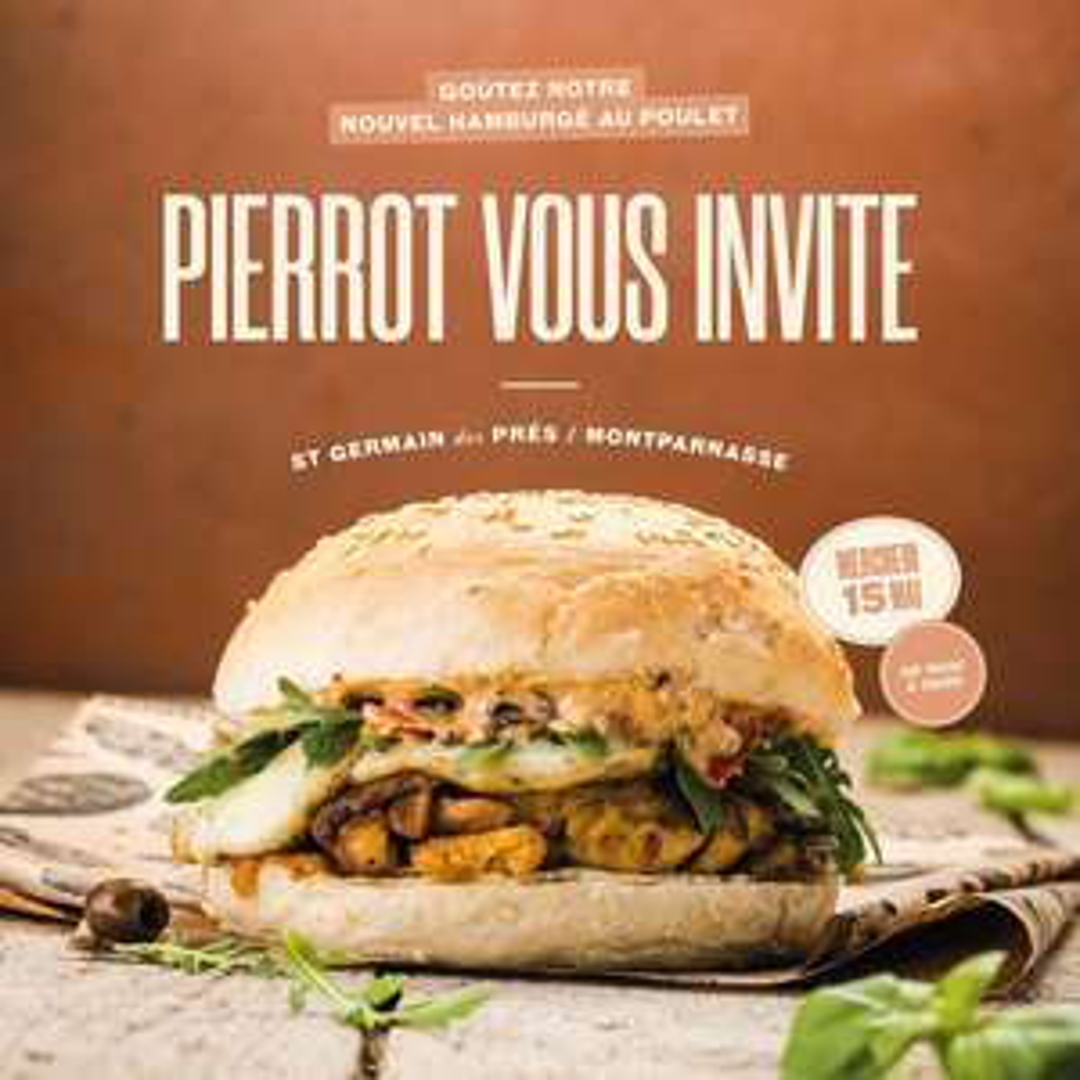 Burger Pierrot gratuit - Big Fernand Montparnasse et Saint Germain des Prés (75)