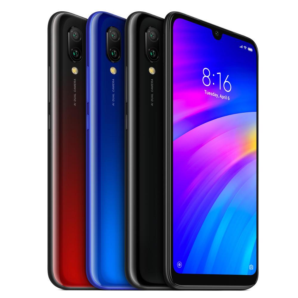 "Smartphone 6.26"" Xiaomi Redmi 7 (Version Global) - HD+, Snapdragon 632, 3 Go RAM, 32 Go ROM, 4G (avec B20) - bleu"