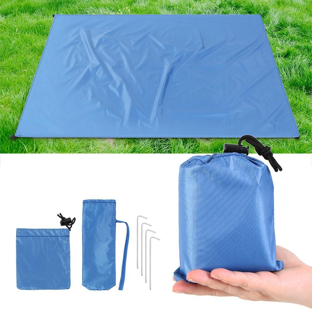 Pack spécial pique-nique - Tapis étanche + sac + piquets - Plusieurs tailles - Ex : Taille S