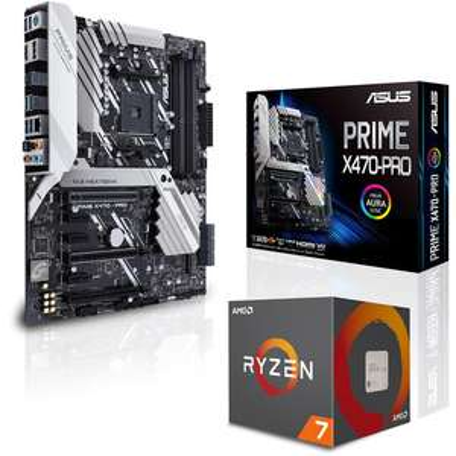 Pack processeur AMD Ryzen 7 2700 (3.2 GHz) + carte-mère Asus Prime X470 Pro