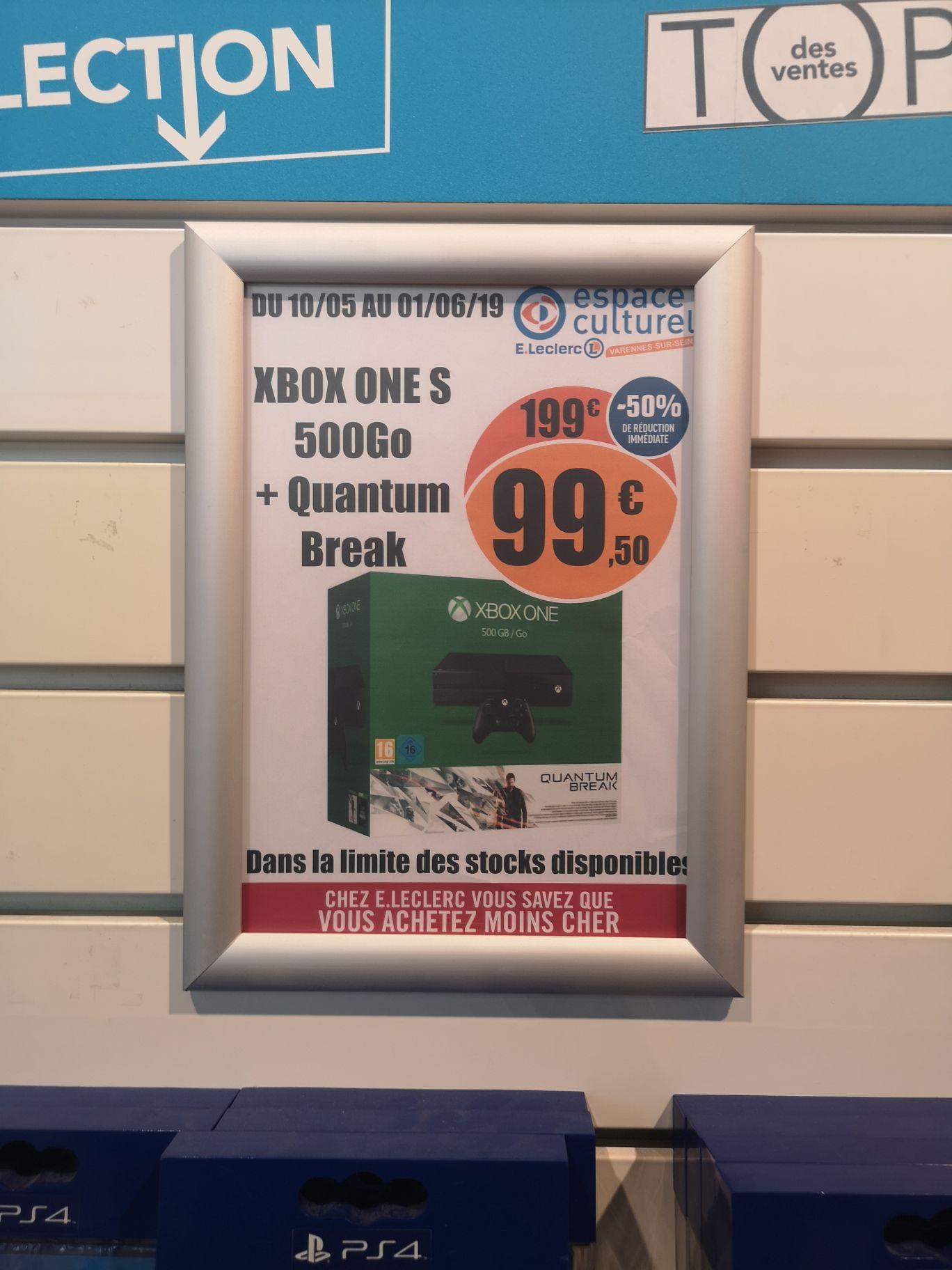 Console Microsoft Xbox One (500 Go) + Quantum Break - Varennes-sur-Seine (77)
