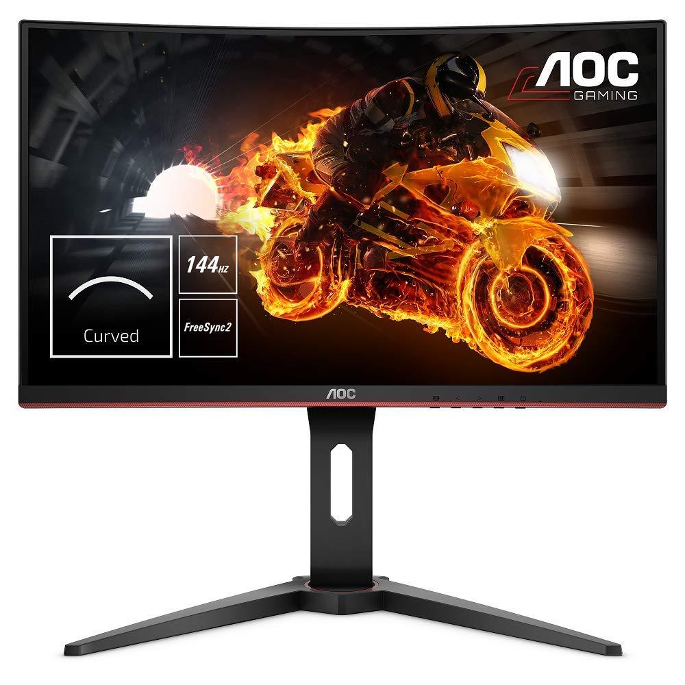 """Ecran PC 24"""" AOC C24G1 - Full HD, 144 Hz, 1 ms, Dalle VA, Incurvé, FreeSync, pied réglable en hauteur"""