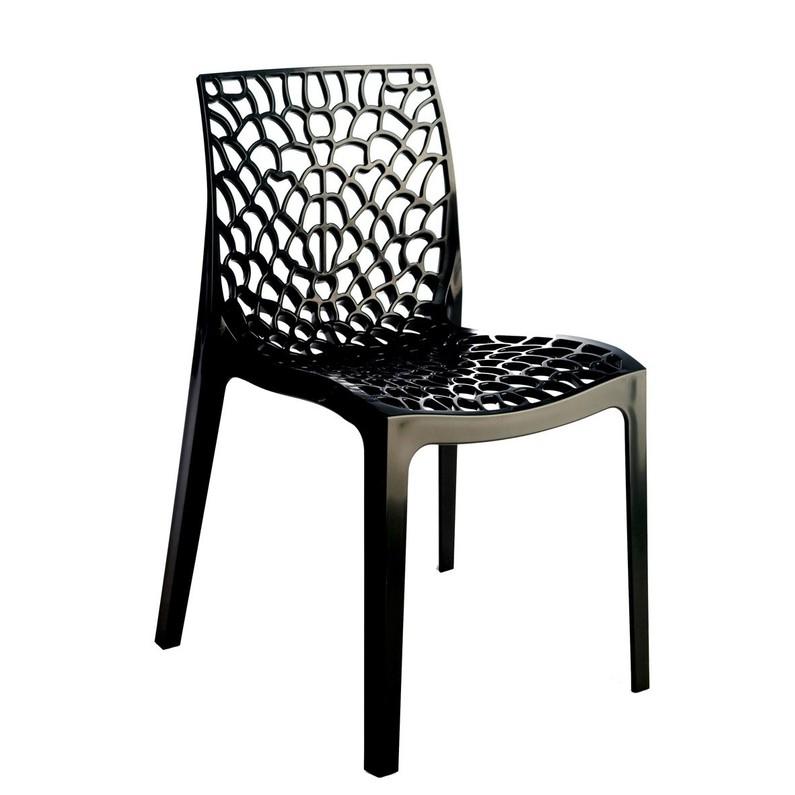 Chaise de jardin en polypropylène Grafik anthracite