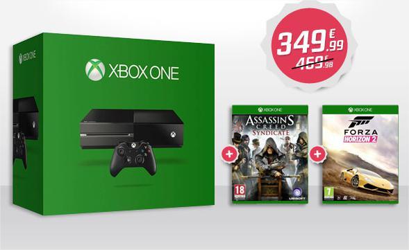 Console Xbox one 500Go + Forza horizon 2 (Dématérialisé) + Assassin's Creed Syndicate