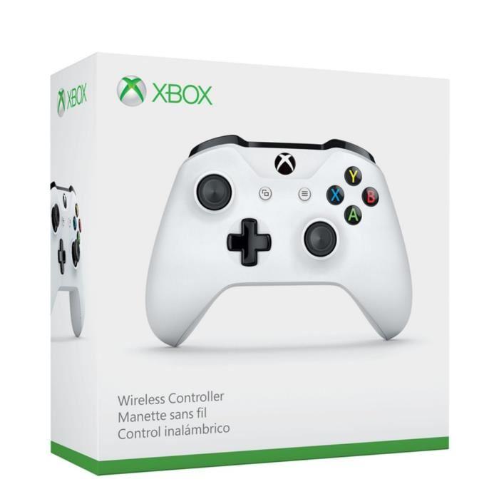 Manette sans fil Xbox One - Blanc (Compatible PC)