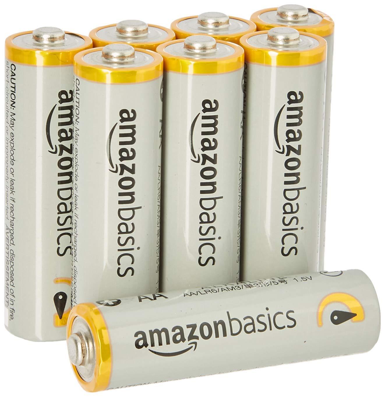 -20% sur une sélection de produits AmazonBasics - Ex : Lot de 8 piles alcalines Type AA AmazonBasics (1,5 V 2875 mAh)