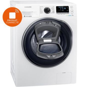Lave-linge connecté Samsung WW90K6414QW/EF - 9 kg, 1400 trs/min, AddWash, Eco Bubble, A+++ (Via ODR de 60€)