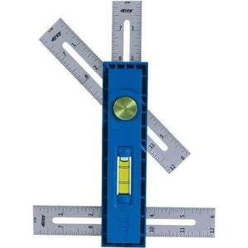 Règle et outil de traçage pour bricolage Kreg KMA2900-Int - mesure en pouces, bleu