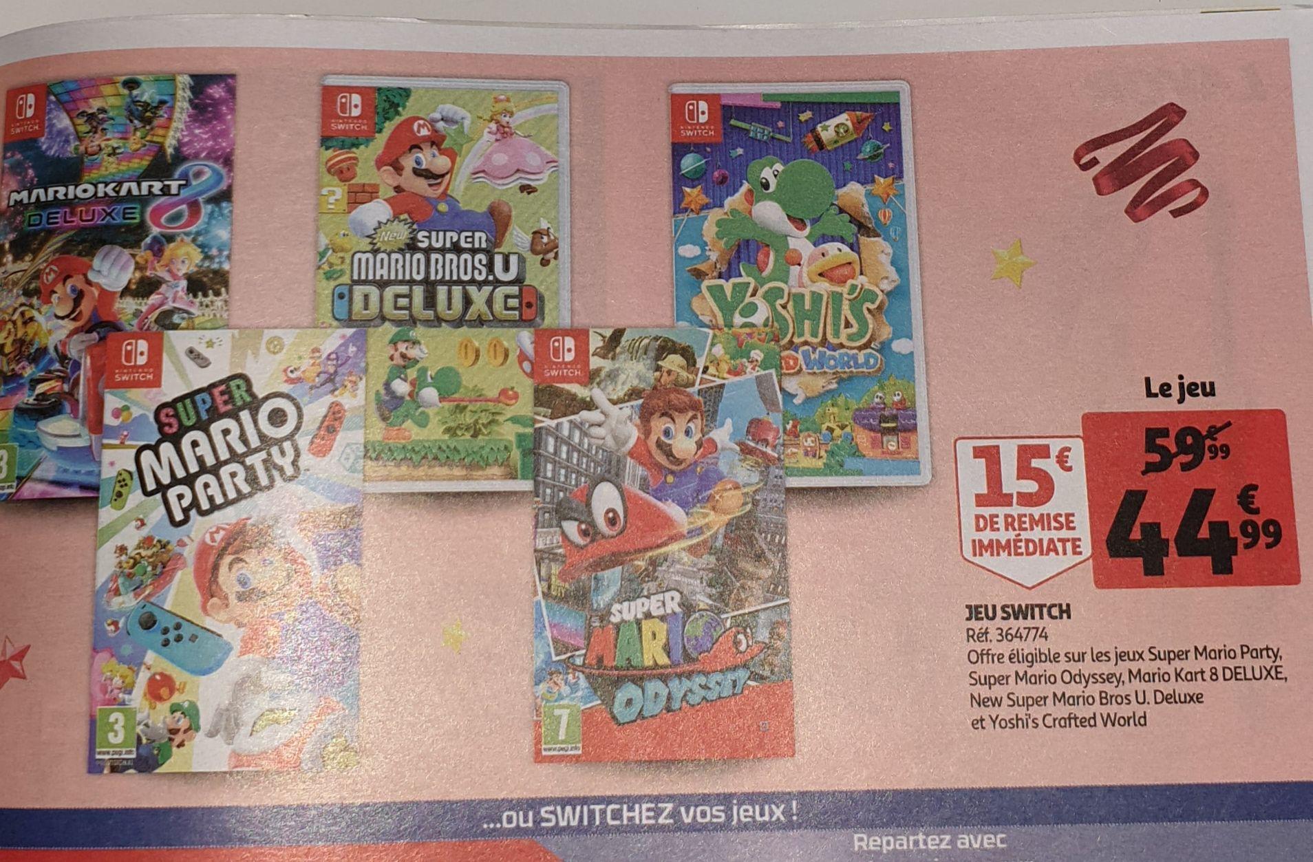 Sélection de jeux en promotion sur Nintendo Switch