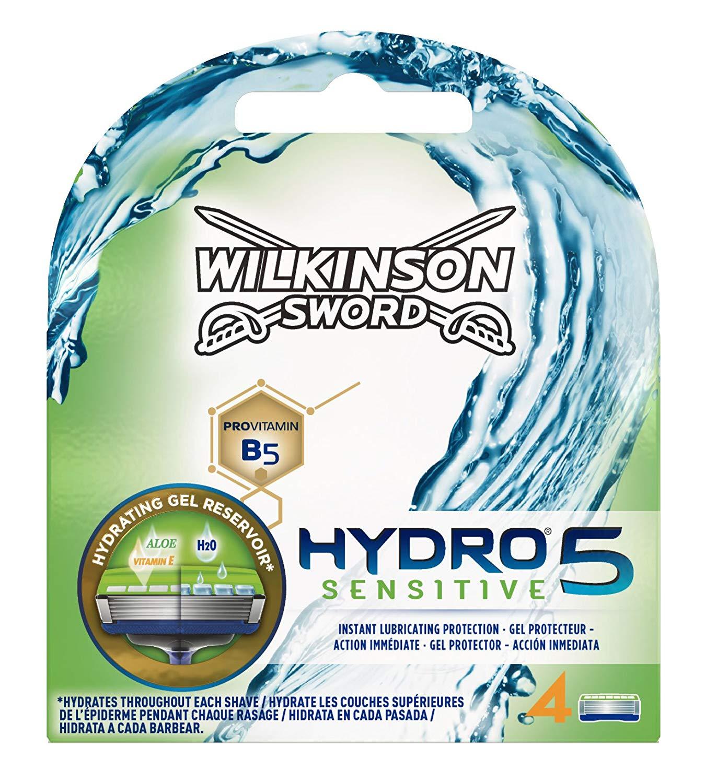 [Panier Plus] Wilkinson - Hydro 5 - Lames de rasoir pour Homme - Pack de 4