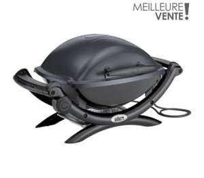 Barbecue électrique Weber Q1400 Dark grey  + Chariot Weber pliable