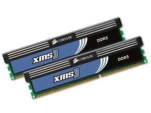 Kit de 2 Barrettes corsair DDR3 PC3-10666 2x4Go (8Go) 1333 MHz - CAS 9 paiement via Buyster