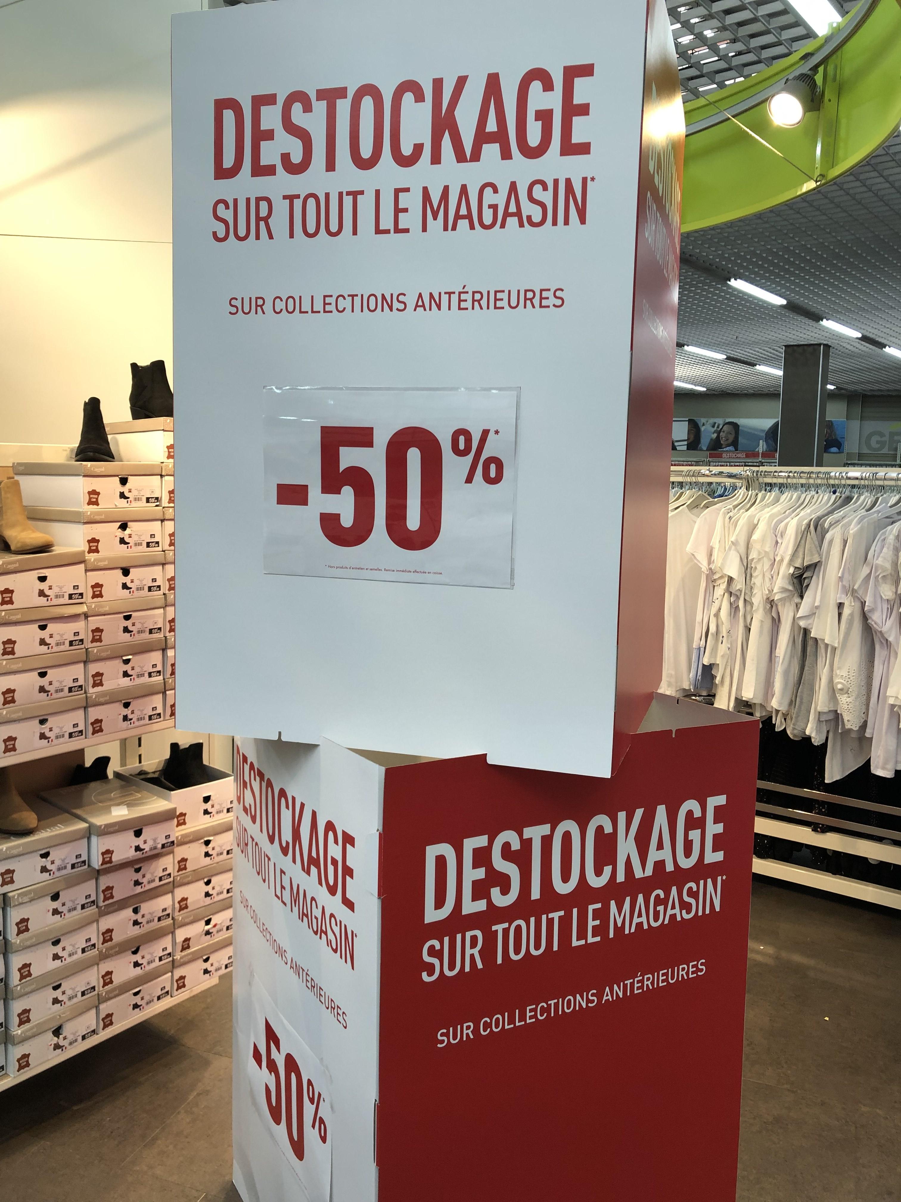 50% de réductions sur les collections antérieures - Tourcoing (59)