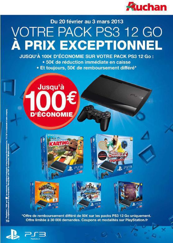 Packs Console PS3 Ultra Slim 12 Go (Avec ODR de 50€)