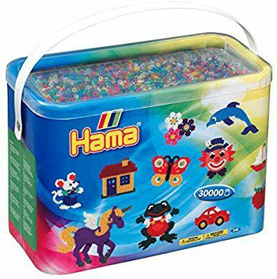 Kit de Loisirs Créatifs Hama Midi Baril 208-53 - 30000 Perles Transparentes
