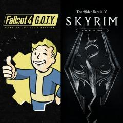 Skyrim Special Edition + Fallout 4 G.O.T.Y. sur PS4 (Dématérialisé)