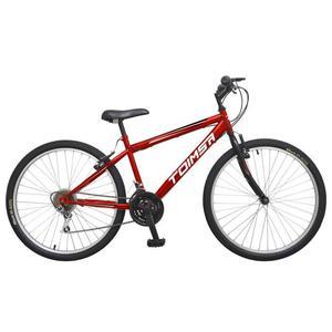 """Vélo 26"""" Toimsa - Cadre acier pour Homme - 18 vitesses, Rouge et noir"""